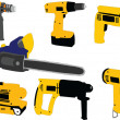 Electric tools - vector — Stockvektor