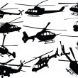 Helicopters collection - vector — Stock Vector #4242254
