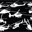 Helicopters collection 3 - vector - Stock Vector