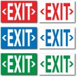Exit Signs — Stock Vector #4060405