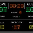 Stock Vector: Scoreboard