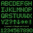 Stock Vector: Green Digital Font