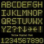 Yellow Digital Font — Stock Vector