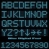 Blue Digital Font — Stock Vector