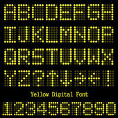 Yellow Digital Font — Stock Vector