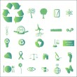 Green Eco Icons — Stock Vector