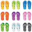 Royalty-Free Stock Vector Image: Flip Flops