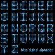 Blue Alphabet - Stockvektor