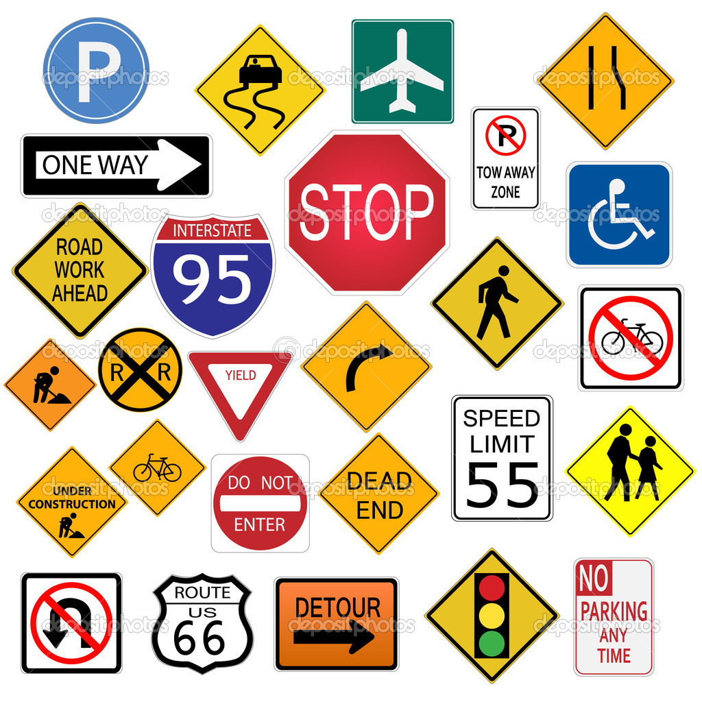 Road Signs — Stock Vector © nmarques74 4562483