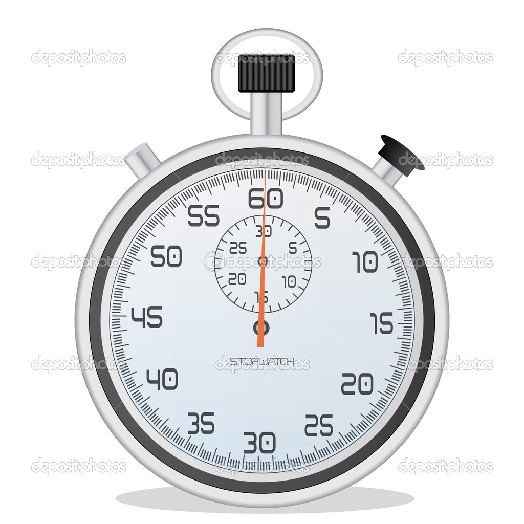 Image of a stopwatch isolated on a white background. — Stock Vector #4562527