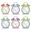 Stok Vektör: Colorful Clocks