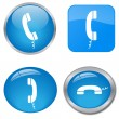Phone Buttons — Stock Vector