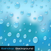 Raindrop Background — Stock Vector