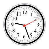 Nástěnné hodiny — Stock vektor