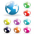 Colorful Globes — Stock Photo #4878374