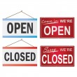 Open and Closed Signs — Imagen vectorial
