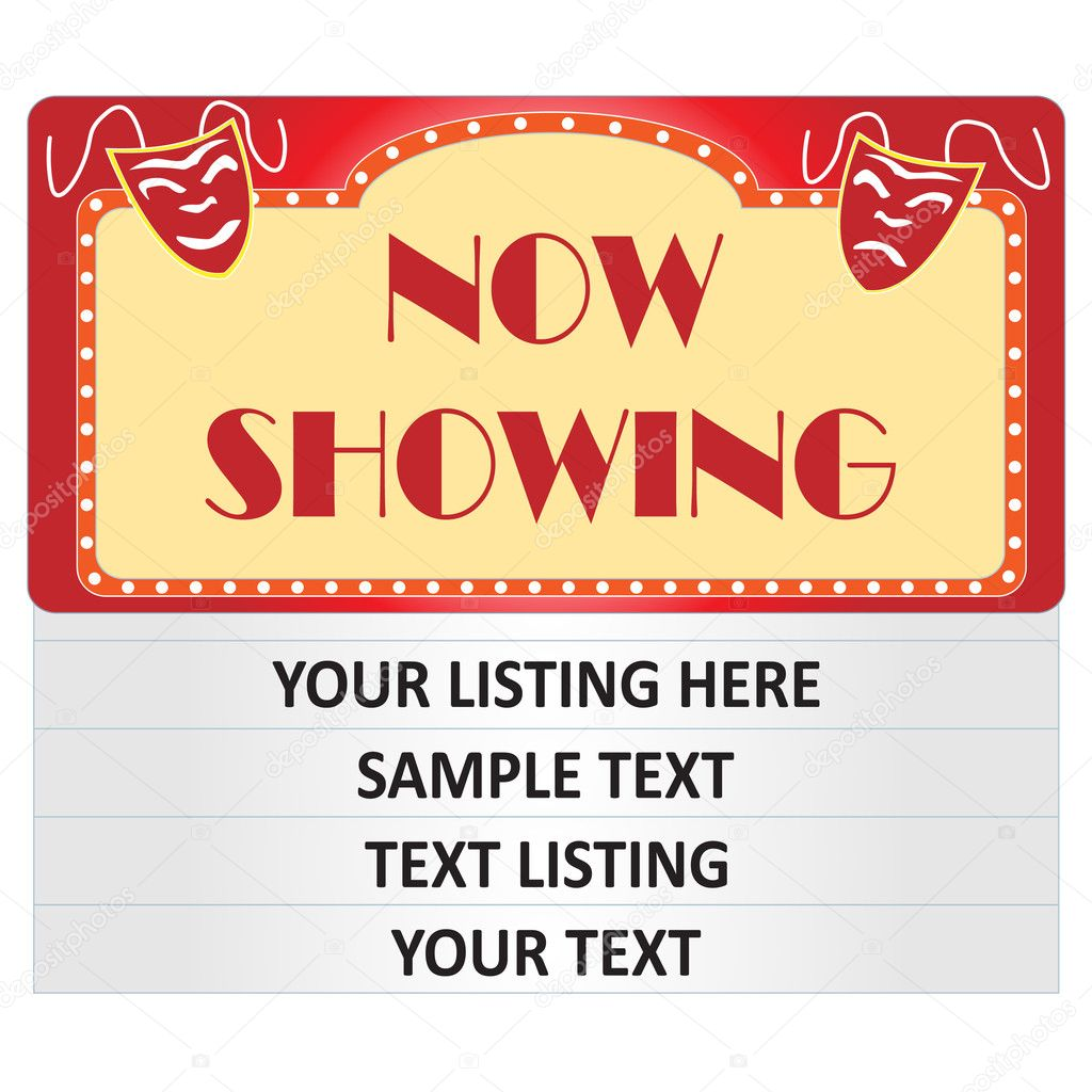 Now Showing Theatre Sign Cinema Quot Now Showing Quot Sign