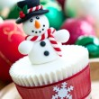 Stock Photo: christmas cupcake