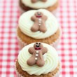 Christmas cupcakes — Stock Photo #4160633