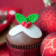 Christmas cupcake — Stock Photo #4177360