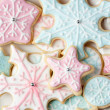 Snowflake cookies — Stock Photo