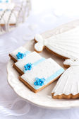 Wedding cookies — Stock Photo