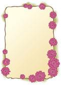 Vektorový snímek svěžích růžových růží — Stock vektor