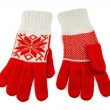 图库照片: Knit Women's gloves