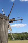 Old windmill in Ukrainian village — Stock Photo