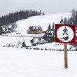 Sign in Tatra mountain, Poland - Stock Photo