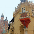 Sukiennice and St. Mary's Basilica - Cracow Old Town — Stock Photo #4804706
