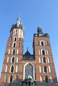 St Mary's church in the Krakow's — Stock Photo