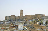 Kind on the city of Sousse from the Big Mosque, Tunis — Stock Photo