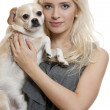 Dog and girl - Stock Photo