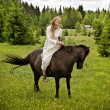 Medieval horseback riding - Stock Photo