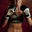 Royalty-Free Stock Photo: Female fighter