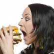 Royalty-Free Stock Photo: Burger girl