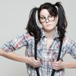 Royalty-Free Stock Photo: Nerd girl
