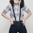 Nerd girl - Stockfoto