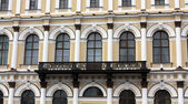 Fragment of wall of building of the19th century — Zdjęcie stockowe