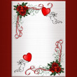 Valentine Background hearts roses — Stock Photo