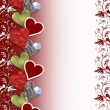Valentine hearts border — Stock Photo