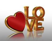 Alla hjärtans grafisk rött hjärta — Stockfoto