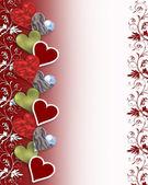 Walentynki serca granicy — Zdjęcie stockowe