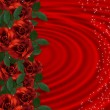 Valentine border Romantic Red Roses — Stock Photo