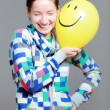 Girl with a balloon — Stockfoto