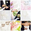 Collage of nine wedding photos — Stock Photo #4002920