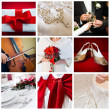 Collage of nine wedding photos — Stock Photo #4002921