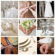 Collage of nine wedding photos — Foto de stock #4002922