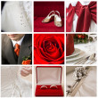 Collage of nine wedding photos — Stock Photo #4002927